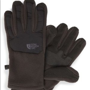 Brown North Face Gloves